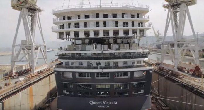 Queen Victoria During Dry Dock