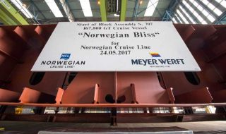Norwegian Bliss Keel Laying