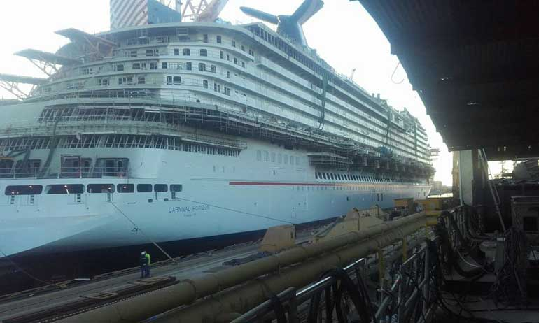 Carnival Horizon at Shipyard