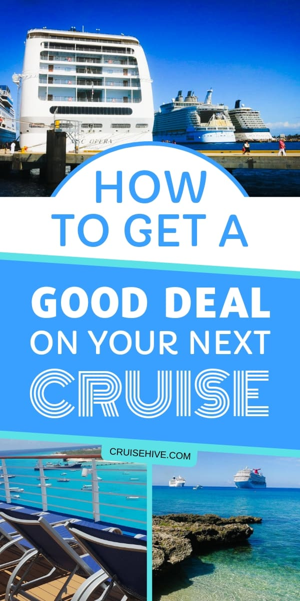 Follow these cruise tips on getting a good deal for your cruise vacation. Ways to find discounts and save money.