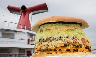 Carnival largest Burger at Sea