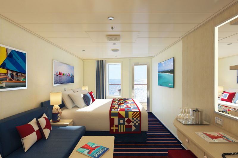 Carnival Horizon Aft-View Harbor Family Stateroom