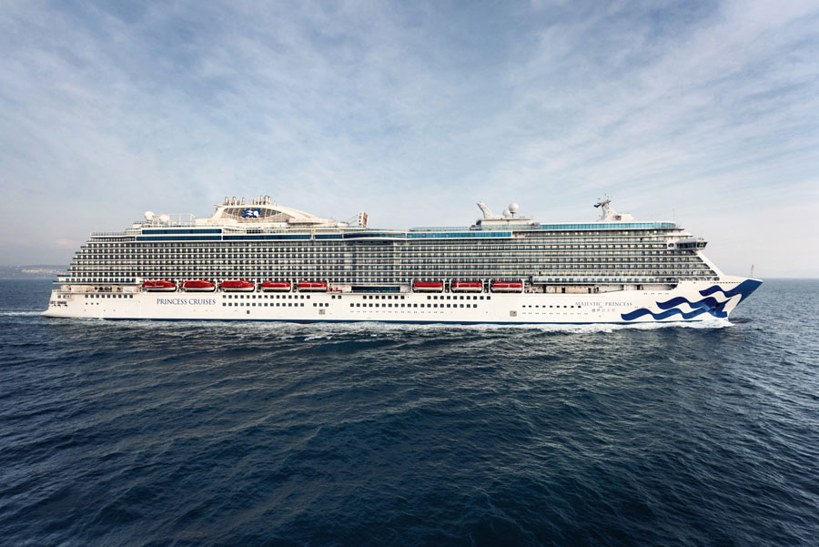 Princess Cruises Newest Cruise Ship Begins Journey To China