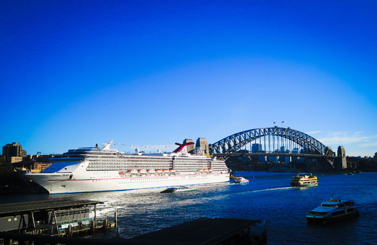 Carnival Cruise Ship in Australia