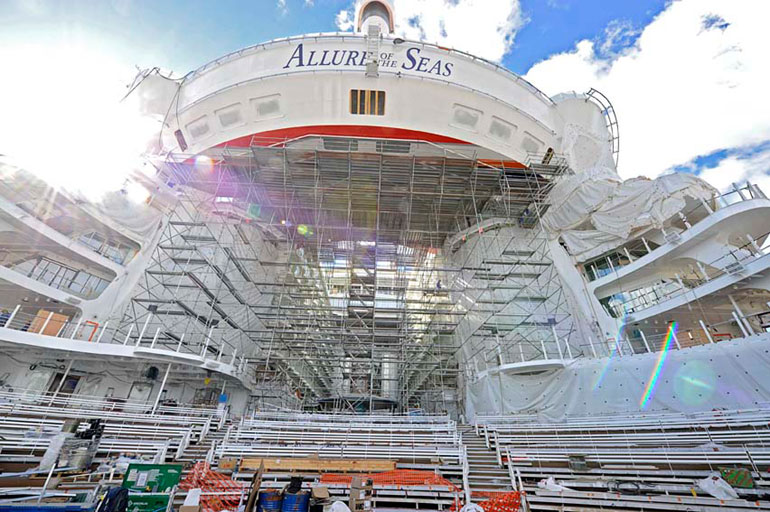 Allure of the Seas Construction