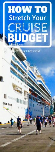 We want you to be able to spend your money on what's important to you during a cruise vacation so here's how to stretch that cruise budget