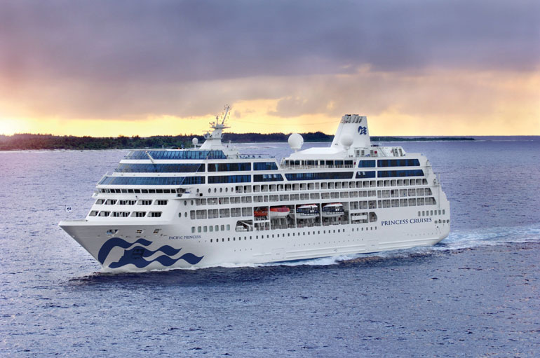 Pacific Princess at Sea