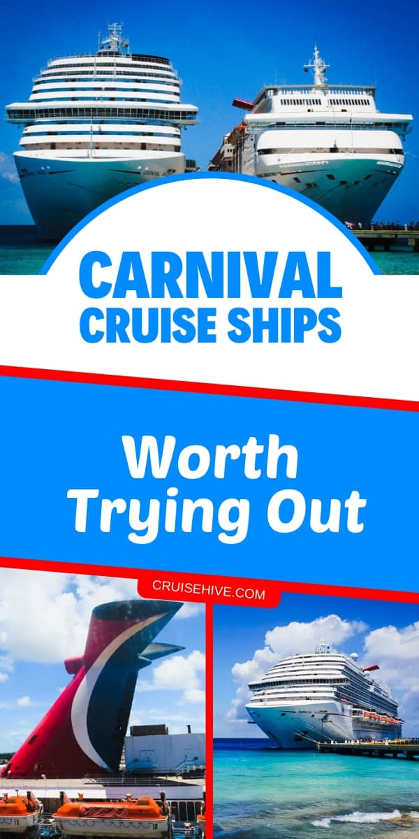 Carnival cruise ships which are worth trying out for a cruise vacation along with cruise tips on the different classes.