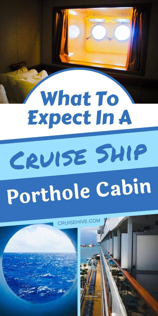 Cruise tips for a porthole cabin for your next cruise vacation.