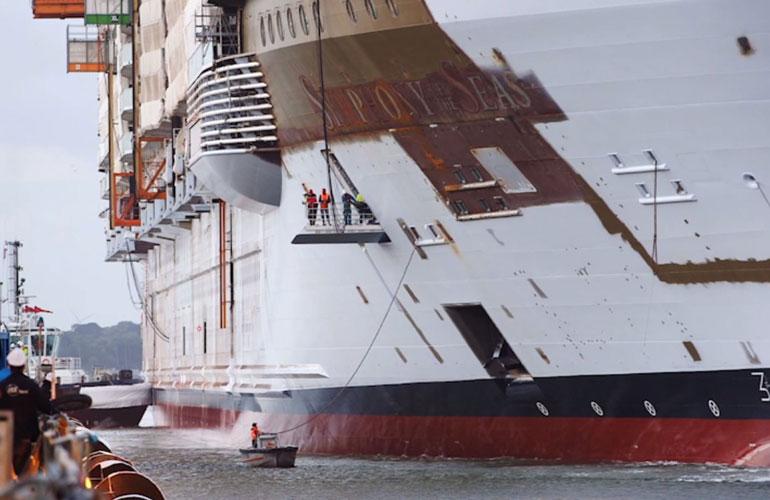 Symphony of the Seas at Shipyard