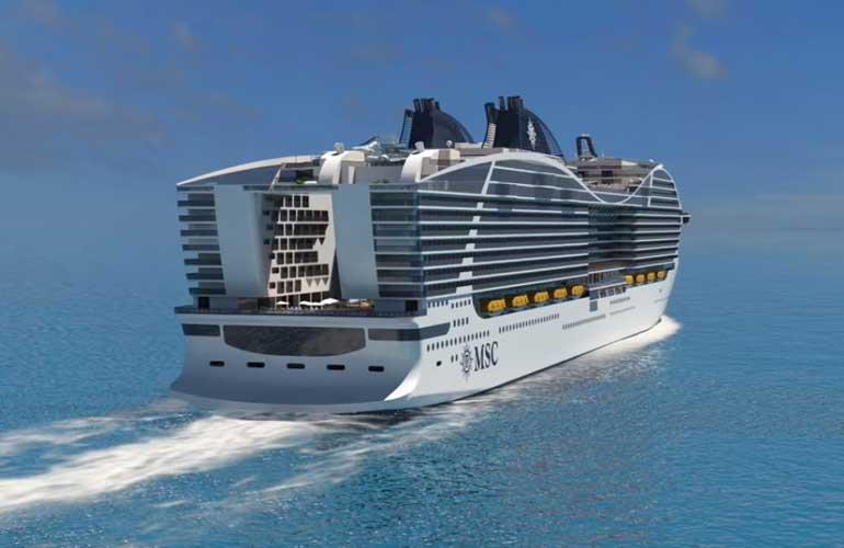 MSC World Class Aft View Rendering