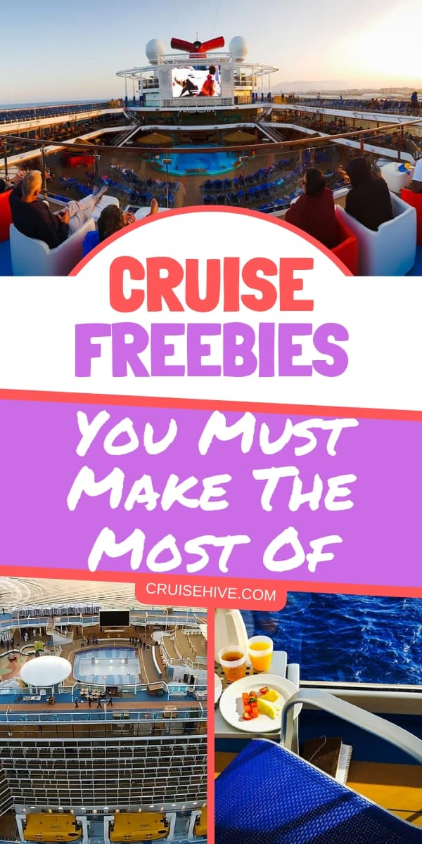 Cruise tips and trick on getting freebies on the ship. Here's how you can make the most of your vacation at sea.