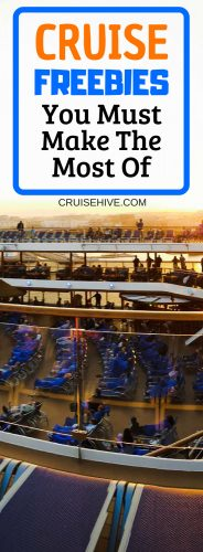 When on your cruise vacation here are the  cruise freebies you should take advantage of.