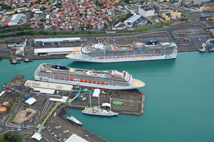 MSC Cruise Ships in Port
