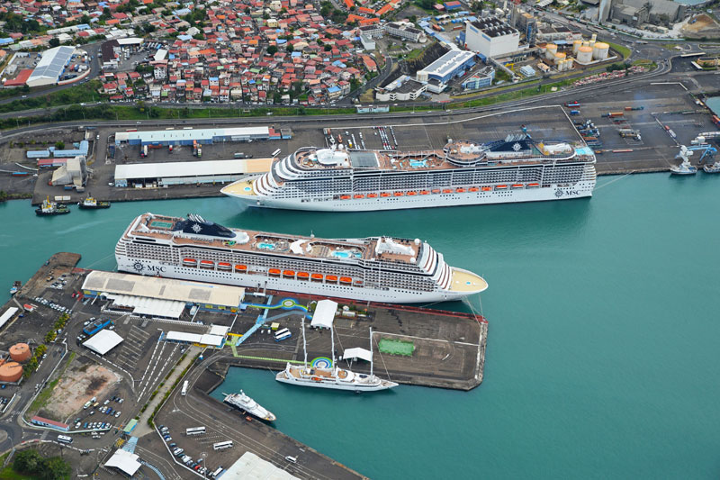 MSC Cruise Ships in Port