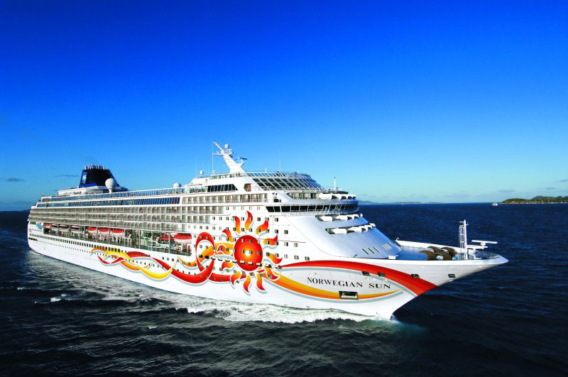 Norwegian Sun at Sea