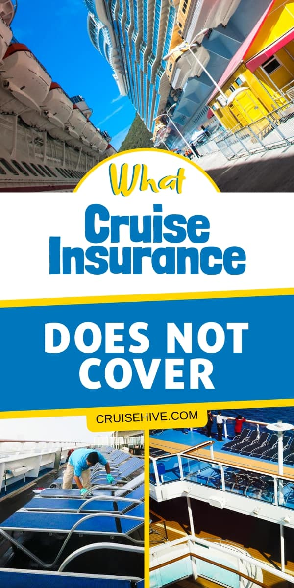 Travel insurance tips for cruises and finding out what is not usually covered. Essential details to know before your vacation begins.