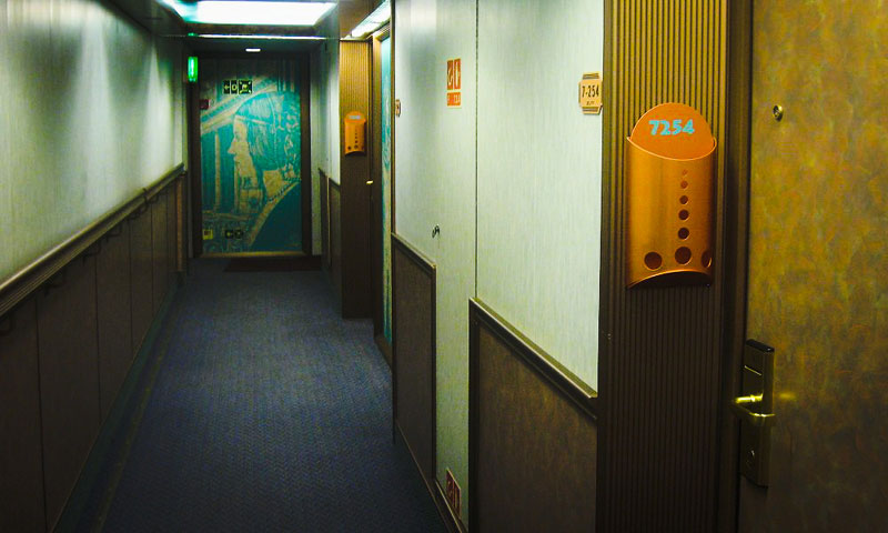 Carnival Pride Hallway, Cruise Ship Cabins