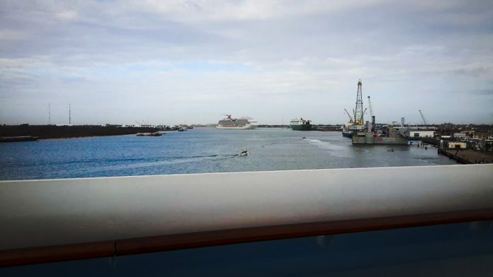 Cruise Ship in Port of Galveston