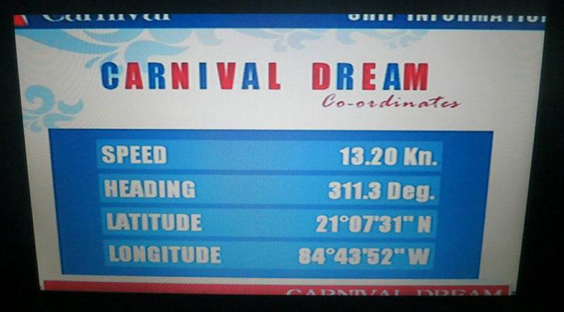 Carnival Dream Status