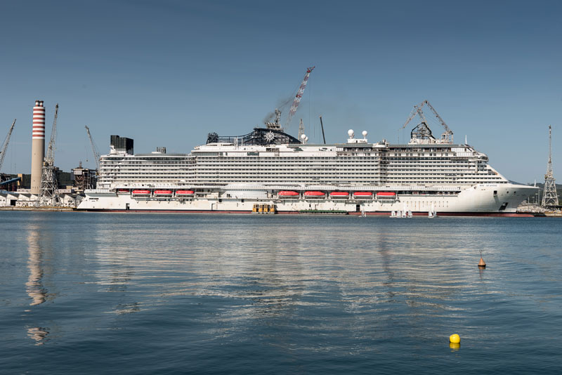 MSC Seaside, Final Stages of Construction