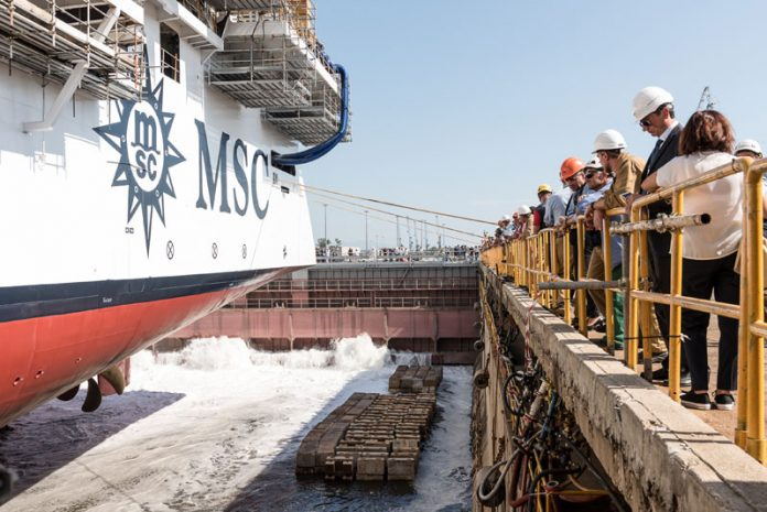 Water Enters MSC Seaview Dry Dock