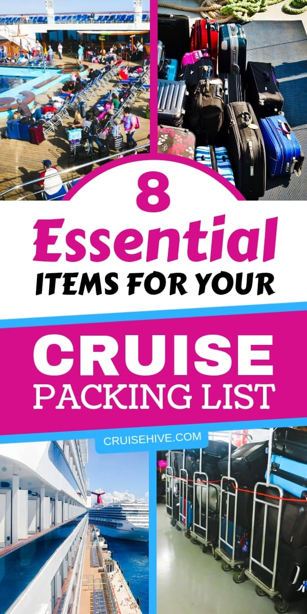 Essential items for your cruise packing list with cruise outfits, accessories and items you may never think of.