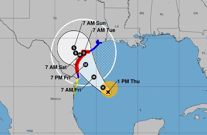 Hurricane Harvey Track