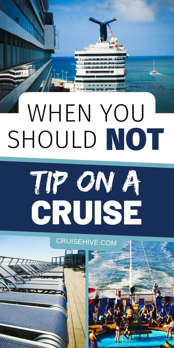 A guide on cruise ship tipping. We're going over why you should not tip during a cruise ship vacation. Learn about how gratuities work for different aspects of the cruise experience.