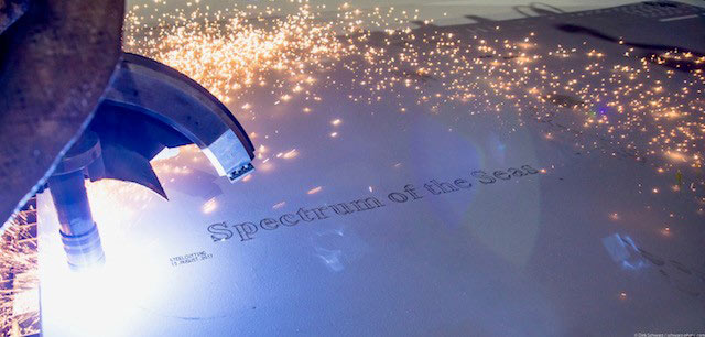 Spectrum of the Seas Steel Cutting