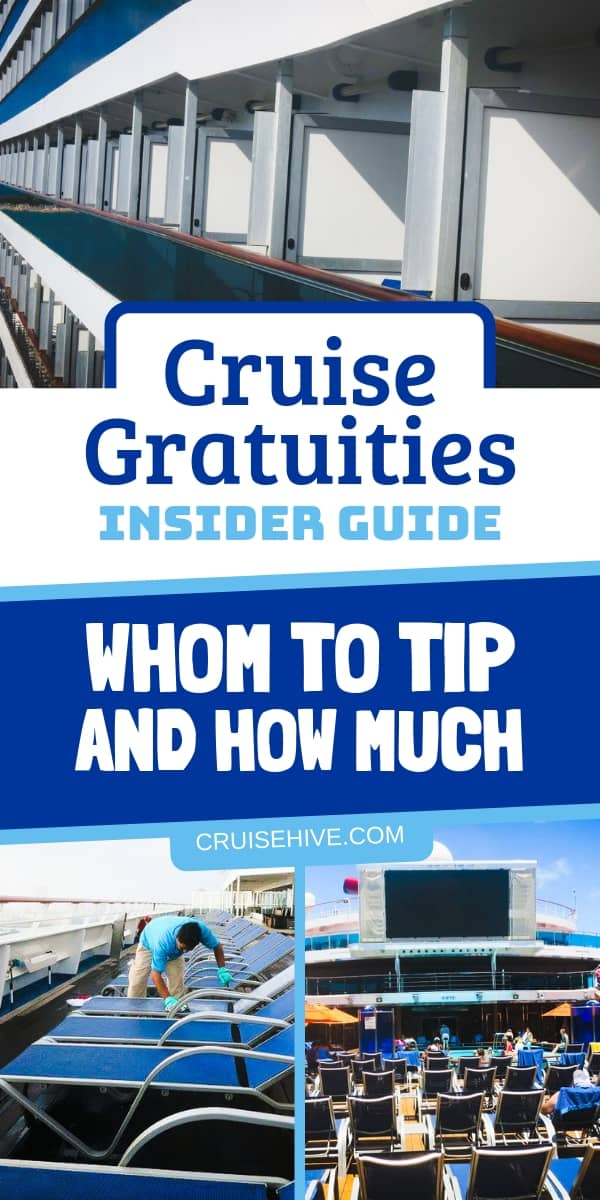 Cruise tipping tips on how much to tip crew members while on the ship. The insider guide to gratuities to make sure you know what to expect, especially for rookies.