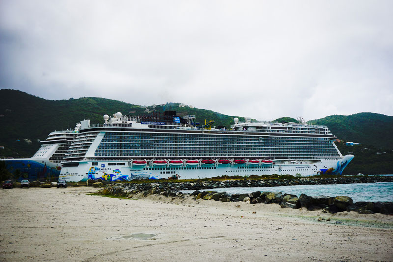 Norwegian Cruise Ships in Port
