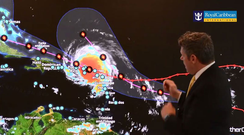 Royal Caribbean Chief Meteorologist Explains Hurricane Irma