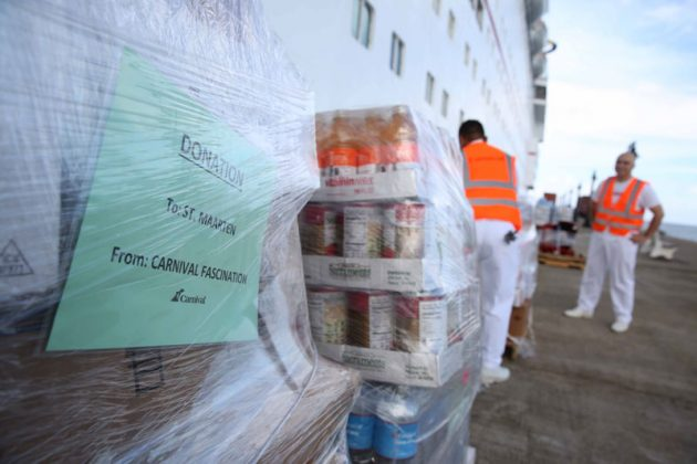 Carnival Fascination Hurricane Irma Supplies