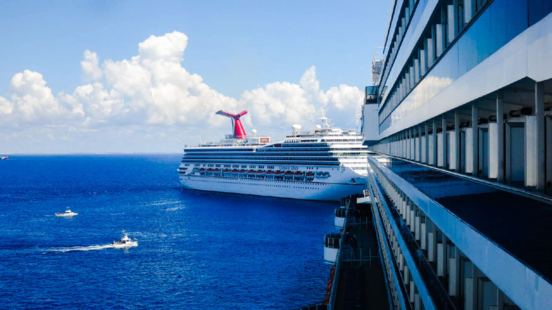 Two Carnival Cruise Ships