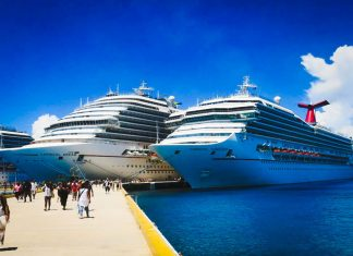Carnival Cruise Ships in Caribbean Port