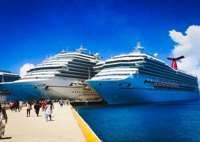 Carnival Cruise Ships in Caribbean Port