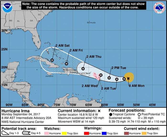Hurricane Irma Impacting Cruise Lines