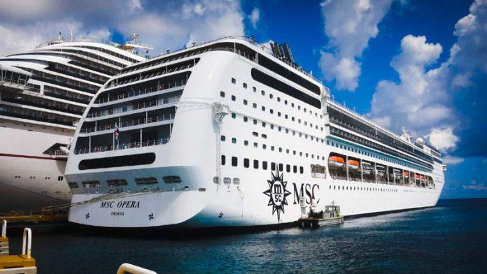MSC Cruise Ship in Port