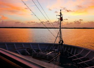 Carnival Cruise Ship Sunset
