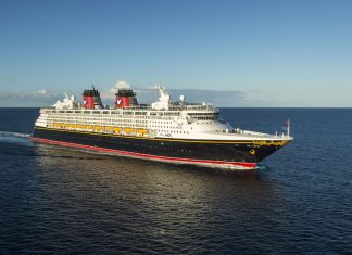 Disney Magic Cruise Ship at Sea