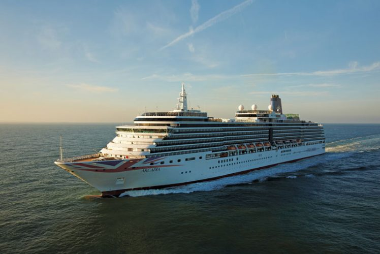 P&O Arcadia Cruise Ship at Sea