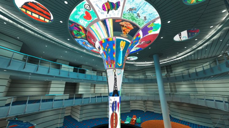 Carnival Horizon LED Dreamscape Atrium Sculpture