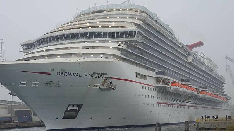 Carnival Horizon Departs for Sea Trials