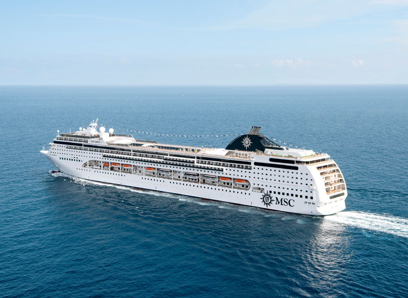 MSC Lirica At Sea