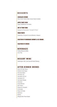 New Carnival Steakhouse Menu