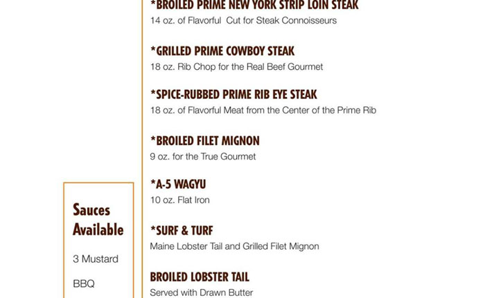carnival cruise line rolling out new steakhouse menu