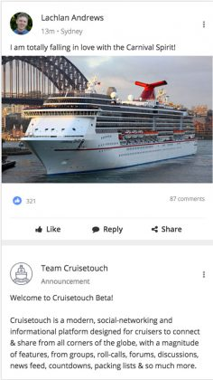 Cruisetouch, News Feed
