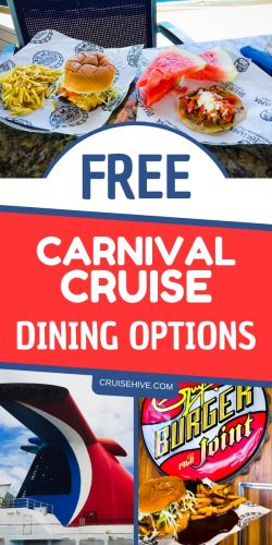 Food during a cruise vacation can make or break your experience and these free Carnival cruise dining options can offer everything you need.
