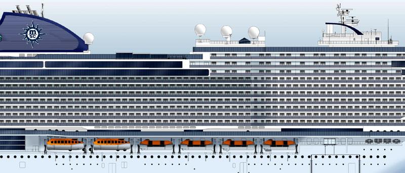 MSC Seaside EVO Class Rendering